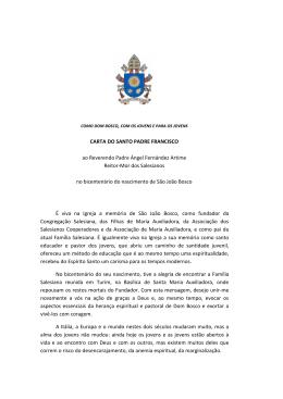 CARTA DO SANTO PADRE FRANCISCO ao Reverendo Padre