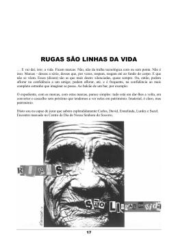 RUGAS SÃO LINHAS DA VIDA