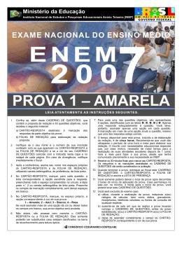PROVA 2007