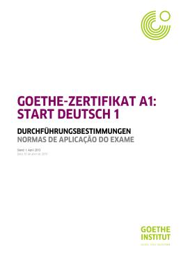 Determinações para aplicação - Goethe
