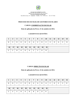 21 de outubro de 2014. 1 2 - Prefeitura Municipal de Colatina