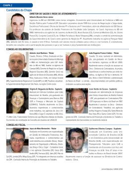 Candidatos da Chapa