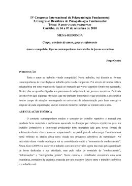AMOR E COMPULSÃO - Laboratório de Psicopatologia Fundamental
