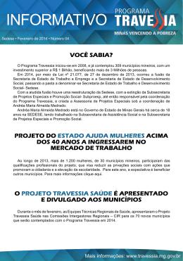 Informativo 2014 – Nº 4 (Fevereiro)