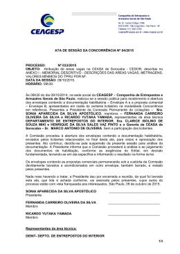 ATA DE SESSÃO DA CONCORRÊNCIA Nº 04/2015