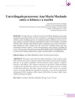 Um triângulo prazeroso: Ana Maria Machado entre a