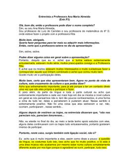 Entrevista a Prof. Ana Maria Almeida