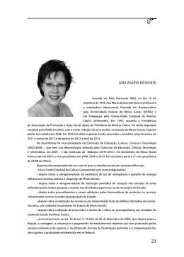 ANA MARIA RESENDE - Assembleia de Minas