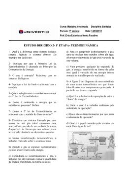 ESTUDO DIRIGIDO 2- 1ª ETAPA- TERMODINÂMICA