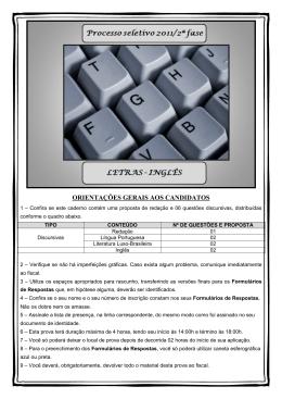 Universidade Federal do Amapá / Letras - Inglês