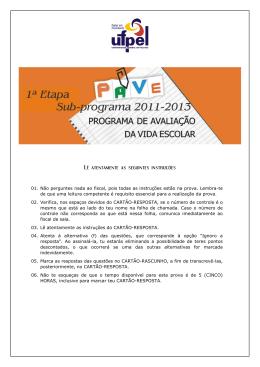 Provas - UFPel