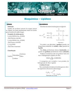 Bioquímica – Lipídeos - Portal de Estudos em Química