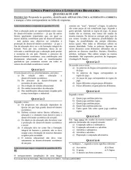 Vestibular 2013.1 - FASETE - Faculdade Sete de Setembro