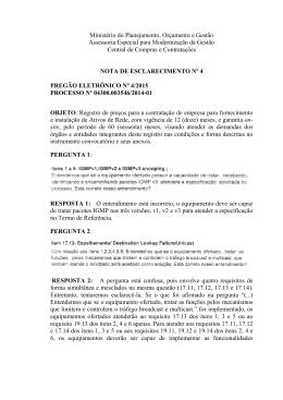 Nota de Esclarecimento nº 4 - Ministério do Planejamento