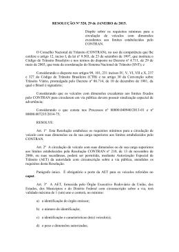 RESOLUÇÃO Nº 520, 29 de JANEIRO de 2015. Dispõe