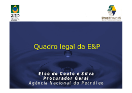 Quadro Legal da E&P