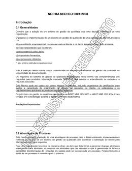 Interpretação da Norma NBR ISO 9001-2008