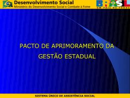Pacto de Aprimoramento da Gestão Estadual