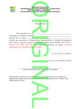Declaração do Orientador que o bolsista atende aos requisitos pdf
