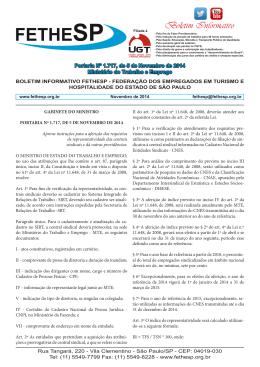 Portaria Nº 1717, de 05/11/2014