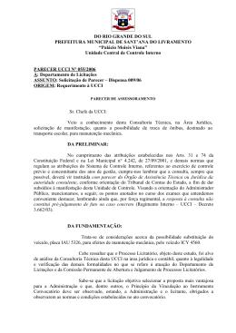 Solicitação de Parecer - Dispensa 009/2006