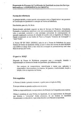 Preparação do Processo de Certificação da - CEUR