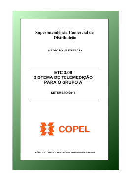 ETC 3.09 - Telemedicao WEB do Grupo A - setembro 2011