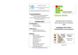 Folder Consórcio de Plantas - companheiras e indicadoras