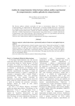 Análise do comportamento - CEMP - Centro de estudos em Psicologia