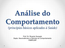Analise do Comportamento - Neurologia