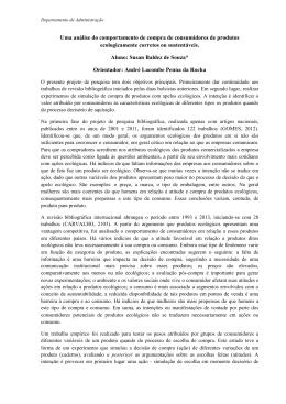 Uma análise do comportamento de compra de - PUC-Rio