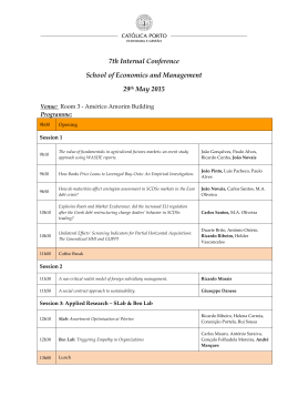 7th Internal Conference School of Economics and Management 29th