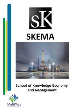 School of Knowledge Economy and Management