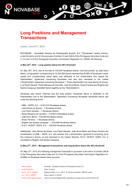 Long Positions and Management Transactions