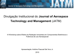 Journal of Aerospace Technology - Instituto de Estudos Avançados