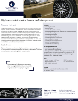 Diploma em Automotive Service and Management