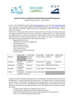 Summer School on Maritime Spatial Planning and Management