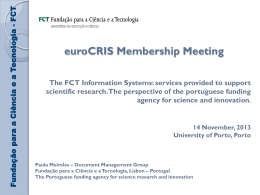 (The FCT Information System - services provided to support scientific