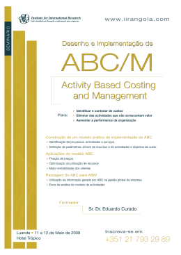 Activity Based Costing and Management Activity Based