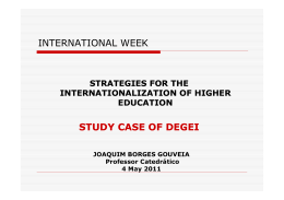 INTERNATIONAL WEEK STUDY CASE OF DEGEI
