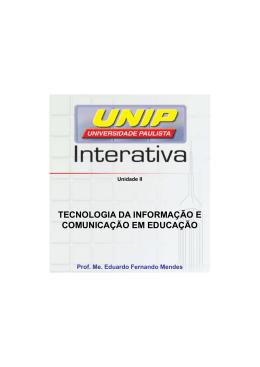 TECNOLOGIA DA INFORMAÇÃO E COMUNICAÇÃO EM EDUCAÇÃO