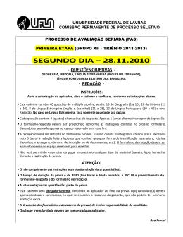 SEGUNDO DIA – 28.11.2010