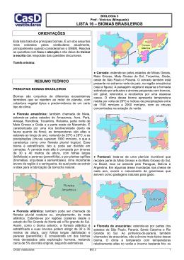 Lista 16 - Biomas brasileiros