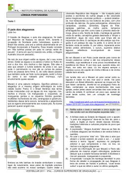 Caderno de questões Vestibular 2011