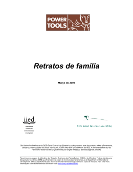 Retratos de família - Power Tools: for policy influence in natural