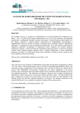 análise de habitabilidade de conjunto habitacional em