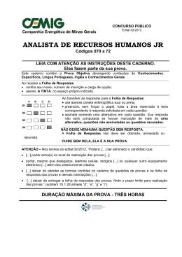 070 a 72 - ANALISTA DE RECURSOS HUMANOS JR