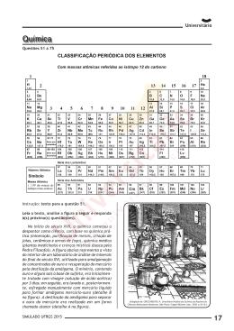 Prova de Química | II Simulado UFRGS 2015