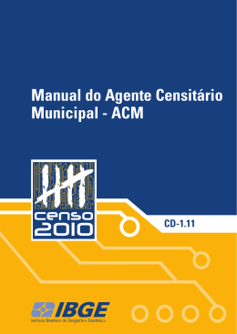 Manual do Agente Censitário Municipal - ACM