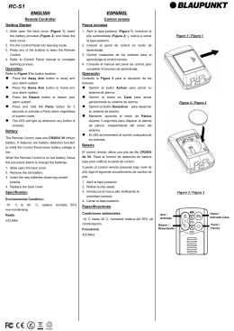 RC-S1 Quick Start Guide/User Manual
